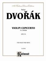 Concerto In A Minor, Opus 53 - Book Sheet Music