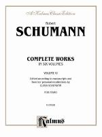 Complete Works, Volume VI - Book Sheet Music