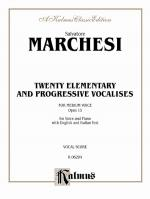 Twenty Elementary And Progressive Vocalises, Opus 15 - Book Sheet Music