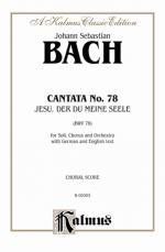 Cantata No. 78-Jesu, Der Du Meine Seele - Book Sheet Music