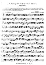 Thirty-Six Celebrated Studies For Cornet - SOFT COVER Sheet Music