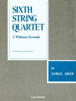 Sixth String Quartet - A Whitman Serenade For Medium Voice And String Quartet Sheet Music