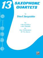 13 Saxophone Quartets - Book Sheet Music