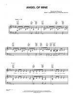 Angel of Mine - Sheet Music Sheet Music