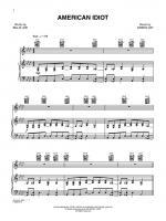 American Idiot - Sheet Music Sheet Music