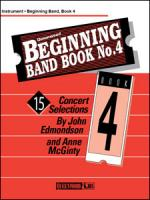Beginning Band Book No. 4 - Conductor / CD Sheet Music