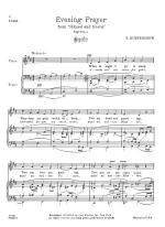 Evening Prayer - PIANO REDUCTION/VOCAL SCORE Sheet Music