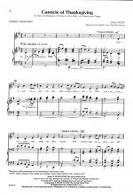 Canticle Of Thanksgiving Sheet Music Sheet Music