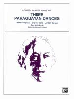 Three Paraguayan Dances - Sheet Music Sheet Music