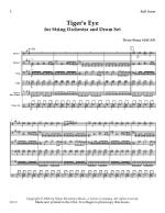 Tiger's Eye For String Orchestra And Drum Set - Score Sheet Music
