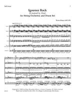 Igneous Rock For String Orchestra And Drum Set - Score Sheet Music