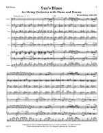 Sue's Blues For String Orchestra With Piano And Drums - Score Sheet Music
