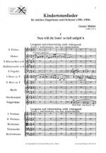 Kindertotenlieder - (Songs On The Death Of Infants) Sheet Music