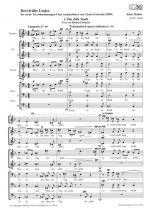 Drei Fruhe Lieder - Fur Sechs-Bis Zehnstimmigen Chor Sheet Music