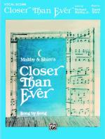 Closer Than Ever - Book Sheet Music