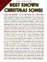 120 Best Known Christmas Songs - Book Sheet Music