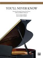 You'll Never Know - Sheet Music Sheet Music