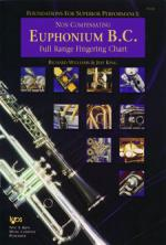 Foundations For Superior Performance Full Range Fingering Chart - Euphonium Bass Clef / Non Compensa Sheet Music