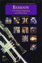 Foundations For Superior Performance Full Range Fingering And Trill Chart - Bassoon Sheet Music
