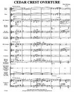 Cedar Crest Overture Sheet Music