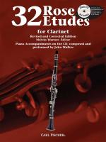 Rose 32 Etudes - For Clarinet Book and CD Sheet Music