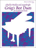 Grieg's Best Duets - One Piano, Four Hands Sheet Music