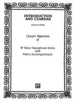 Introduction and Czardas - Part(s) Sheet Music
