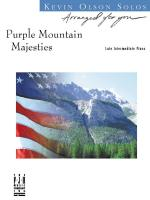 Purple Mountain Majesties Sheet Music Sheet Music