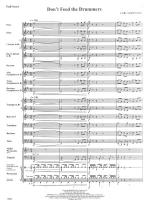 Don't Feed The Drummer - FULL SCORE - LARGE Sheet Music