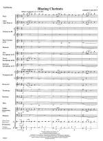 Blazing Clarinets - FULL SCORE - LARGE Sheet Music