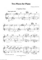 Two Pieces for Piano (Papillons) Sheet Music