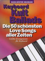 Bosworth Keyboard Kult Ballads Sheet Music