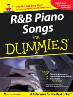 R&B Piano Songs For Dummies Sheet Music