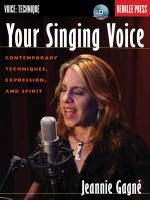 Your Singing Voice Contemporary Techniques, Expression, And Spirit Sheet Music