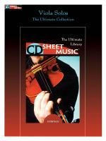 Viola Solos The Ultimate Collection Sheet Music