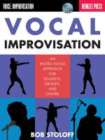Vocal Improvisation An Instru-Vocal Approach For Soloists, Groups, And Choirs Sheet Music