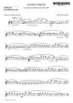 Living Voices Soprano Saxophone Part Sheet Music Sheet Music