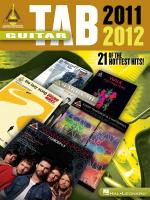 Guitar Tab 2011-2012 Sheet Music