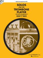 Solos For The Trombone Player - Book/CD Sheet Music