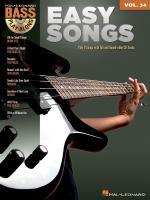 Bass Play-Along Volume 34: Easy Songs Sheet Music