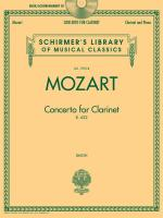 W.A. Mozart: Concerto For Clarinet K.622 - Clarinet/Piano (Book/CD) Sheet Music