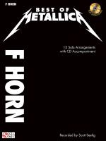 Metallica: Best Of - F Horn Sheet Music