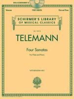 G.P. Telemann: Four Sonatas For Flute And Piano (Book/CD) Sheet Music