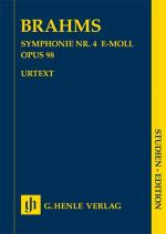 Johannes Brahms: Symphony No.4 In E Minor Op.98 (Study Score) Sheet Music