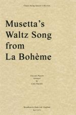 Giacomo Puccini: Musetta's Waltz Song from La Bohème - String Quartet (Score) Sheet Music