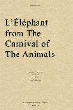 Camille Saint-Saëns - L'Éléphant from The Carnival of the Animals (Brass Quintet) Sheet Music