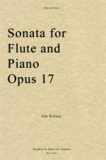 Jim Kelsey: Sonata for Flute and Piano, Opus 17 Sheet Music