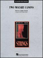 Two Mozart Canons, Piano part Sheet Music