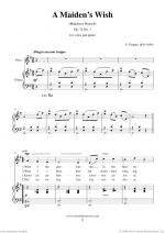 A Maiden's Wish Sheet Music