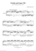 Prelude & Fugue VIII - Book II Sheet Music